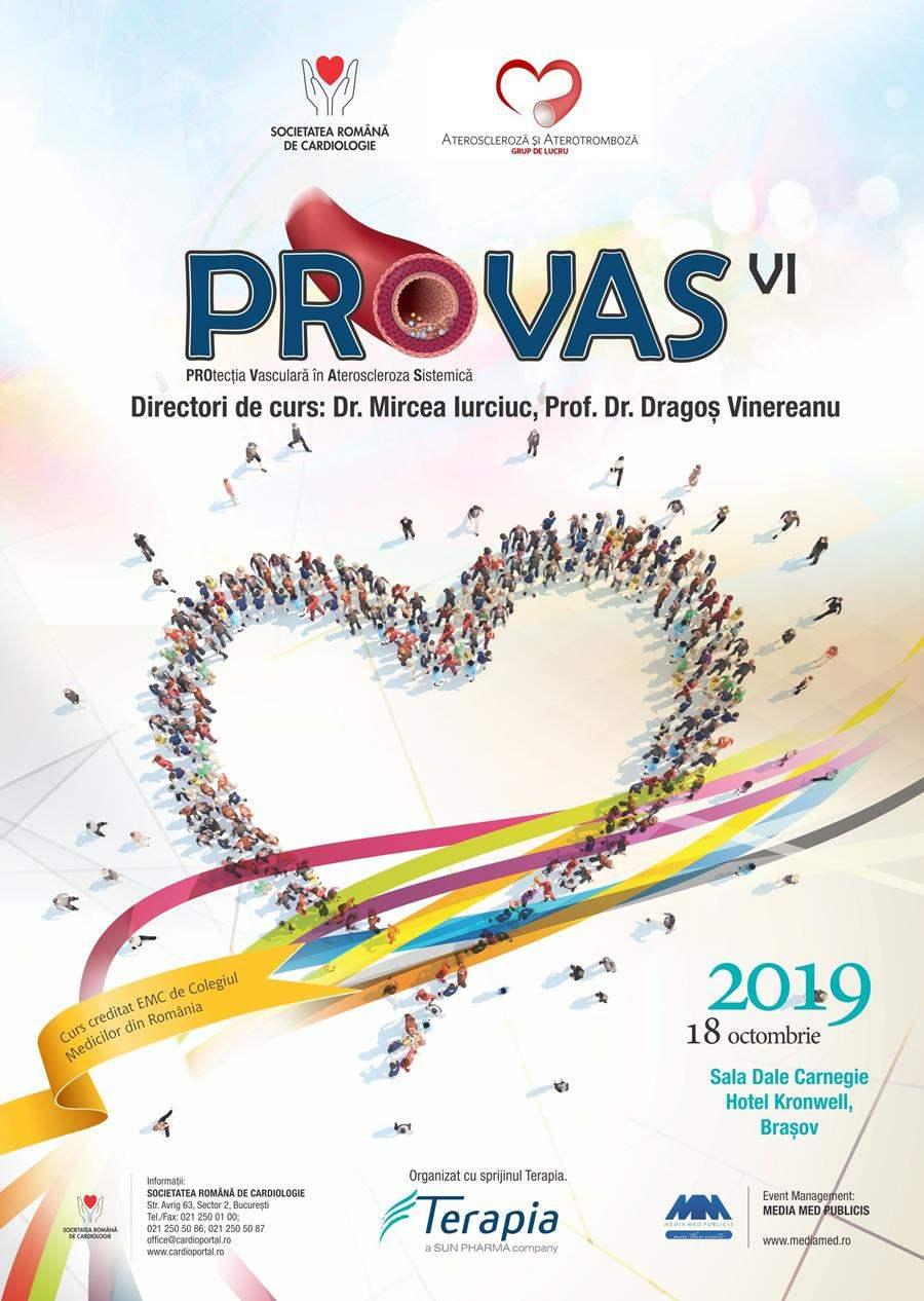 """Brașov: Curs """"Protecția vasculară în ateroscleroza sistemică (PROVAS)"""", 18 octombrie"""