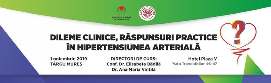 Targu Mures: Curs cardiologie – dileme clinice, raspunsuri practice in hipertensiunea arteriala