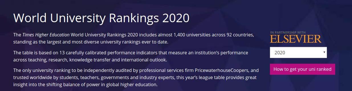 O singură universitate românească de medicină prezentă în topul World University Rankings 2020