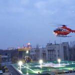 Primul elicopter SMURD a aterizat pe noul heliport al Spitalului Universitar din București
