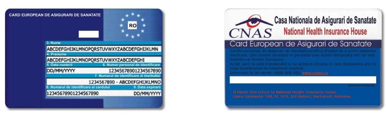 Cetăţenii români pot folosi cardul european de asigurări de sănătate (CEASS) 2020
