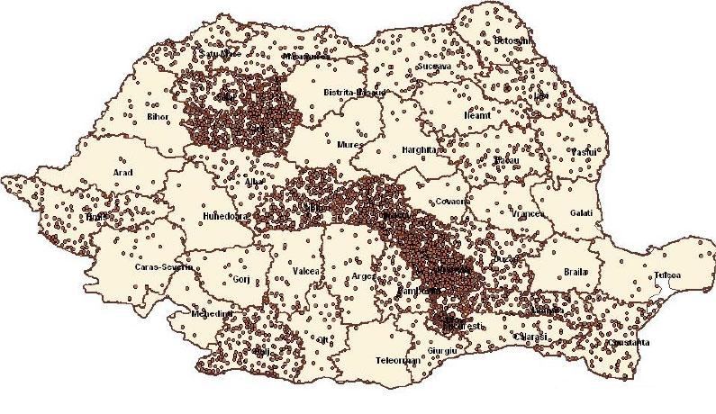Harta cazurilor de gripă în România (actualizată 2 februarie)
