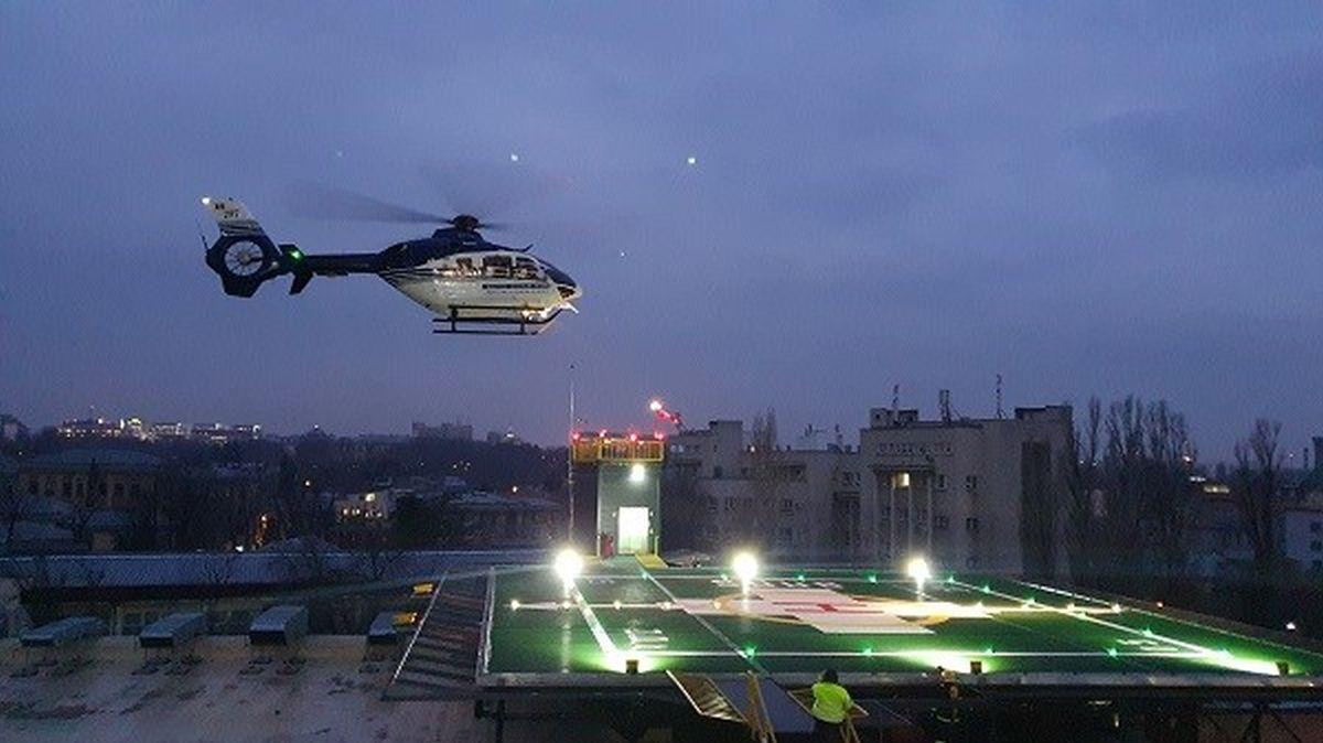 Pe heliportul Spitalului Universitar de Urgență din București pot fi aduși și bolnavi din afara țării