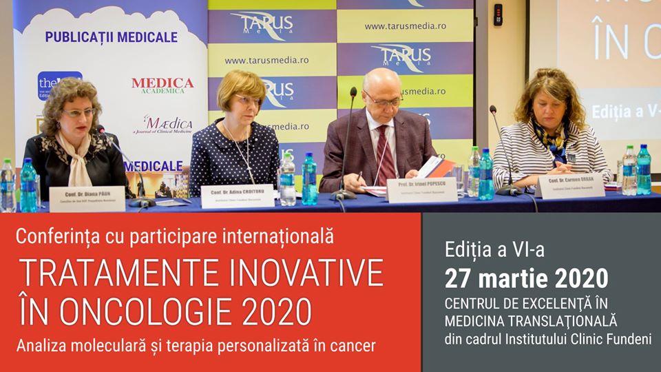"Conferința ""Tratamente inovative în oncologie"" – 27 martie 2020"