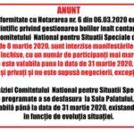 Coronavirus România: Sunt interzise manifestările publice sau private